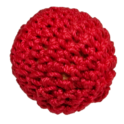 1 inch Crochet Ball Non Magnetic (Red) by Ickle Pickle Products, Inc. - Trick