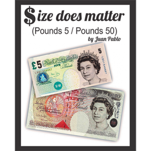 Size Does Matter POUND 5 to 50 (Gimmicks and Online Instructions) by Juan Pablo Magic