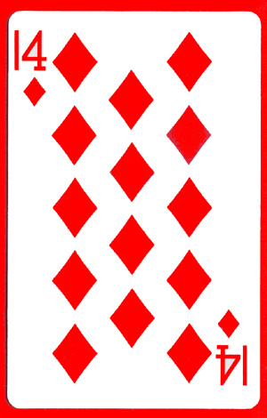 14 of Diamonds Cards (1 card = 1 unit)- Royal