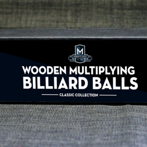 "Wooden Billiard Balls (1.75"" White) by Classic Collections - Trick"