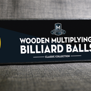 "Wooden Billiard Balls (1.75"" Yellow) by Classic Collections - Trick"