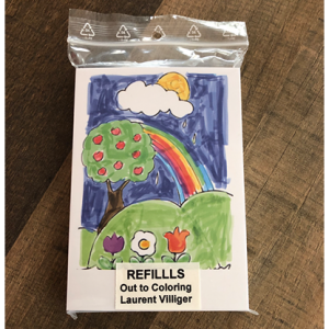 Refill (50) for Out To Coloring (STAGE) by Laurent Villiger - Trick