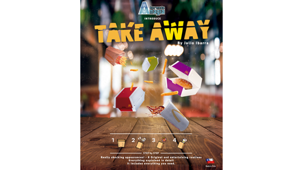 Take Away (Gimmicks and Online Instructions) by Aprendemagia  - Trick